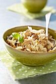 Button mushroom risotto