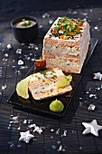 Salmon and sole terrine with lime