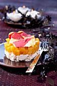 Mango-raspberry Vacherin
