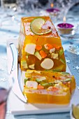 Scallop and saffron aspic terrine