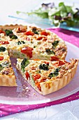Porridge and vegetable tart