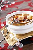 Foie gras and cocoa Crème brulee