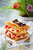Strawberry brick Mille-feuille