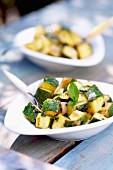 Stewed zucchini tapas