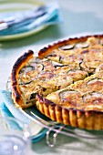 Zucchini and Vache qui rit quiche