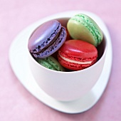 Three different flavored macaroons