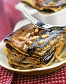 Eggplant and pine nut lasagnes