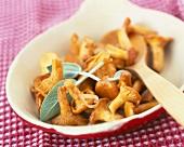 Pan-fried chanterelles