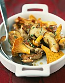 Cep and chanterelle fricassée