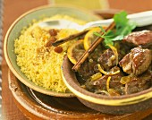 Lamb Tajine with semolina and raisins