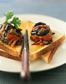 Moroccan-style eggplant caviar