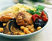 Chicken,vegetable ans prune Tajine