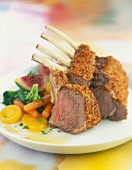 Loin of lamb with gingerbread crust