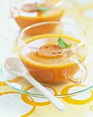 Cream of carrot and cumin soup