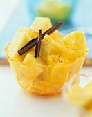 Pineapple and cinnamon fruit salad