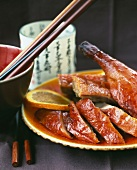 Peking duck with orange