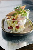 Herring,potato and beetroot salad
