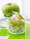 Crab meat and green apple verrine