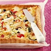 Provençal-style cod quiche