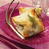 Fish filo pastry pies