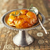 Apricot tatin tart with rosemary