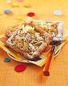 Grated apple tartlets