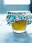 Passionfruit and white wine jelly