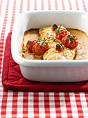 Fresh haddock with cherry tomato pesto
