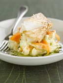 Salt-cod with mashed potatoes and smoked salmon