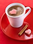Cinnamon and vanilla-flavored hot chocolate