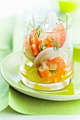 Shrimp and fennel verrine