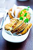 Eggplant and Chorizo fritters