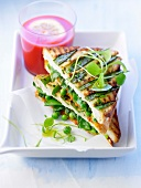 Spring vegetable toasted sandwich