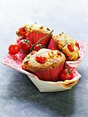 Savoury cherry tomato muffins
