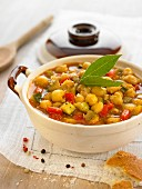 Cold chickpea soup