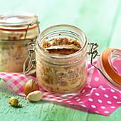 Farmhouse pistachio and hazelnut-flavored paté