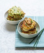 Cod and zucchini fritters