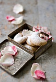 Crescent moon-shaped rose water-flavored cookies