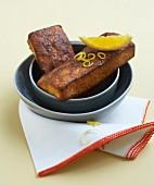 Semolina and citrus fruit cakes