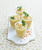 Cold cream of orange lentils