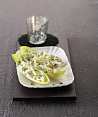 Chicory with fennel and blue cheese