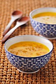 Cream of carrot,coconut milk and Madras curry soup