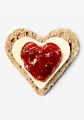 Bread,butter and jam heart