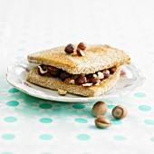 Hazelnut toasted sandwich