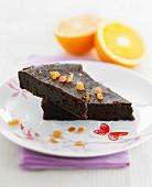 Bitter dark chocolate fondant