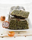 Green lentil terrine