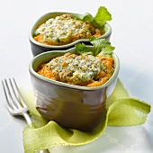 Pumpkin and goat's cheese-topped dish