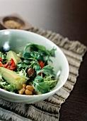 Natto and avocado salad