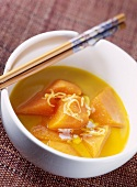 White miso and pumpkin soup