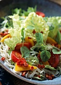 Somen and mango salad